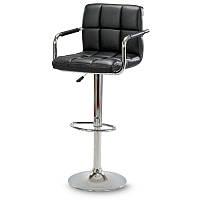 Барный стул Hoker ASTANA с подставкой для ног и регулировкой высоты сидения Черный, фото 1