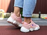 Жіночі кросівки Champion рожеві з білим, фото 2