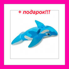 """Детский надувной плотик  """"Синий кит"""" размер: 168см х 86см"""