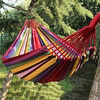 Гамак подвесной из дышащей ткани | садовый | переносной | РАЗНЫЕ РАЗМЕРЫ | для дачи | туристический