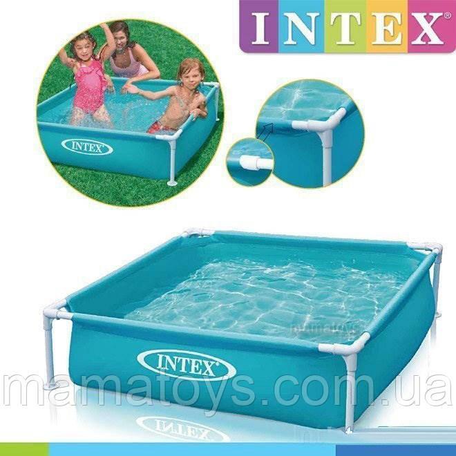 Дитячий Каркасний басейн 57173 Intex від 2 років Квадратний 122 - 122 см