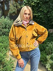Куртка из бархата с воротником из шиншиллы в наличии