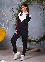 Стильный женский спортивный костюм кофта и штаны арт 820