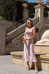 Шелковое платье на бретелях