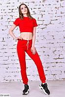 Стильный женский спортивный костюм в зал с топом арт 0018