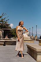Шелковое платье на бретелях, фото 3
