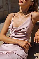Шелковое платье на бретелях, фото 2