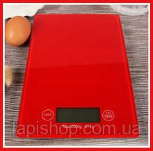 Весы кухонные MATARIX MX-402 5кг стекло Красные