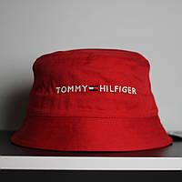 Красная мужская панама Tommy Hilfiger Томми Хилфигер