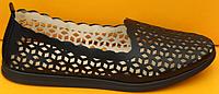 Балетки летние кожаные от производителя модель ДС84-1