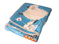 Электропростынь Electric blanket 5733 145х115 см, голубая с рисунком