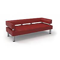Офисный диван Стронг (MebliSTRONG) - красный глянцевый цвет
