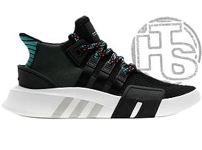 Мужские кроссовки Adidas EQT Bask Adv Core Black/Sub Green CQ2993