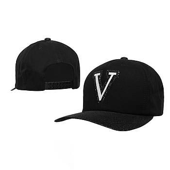 Женская с логотипом  V блестящая