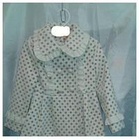 Пальто демисезонное подростковое для девочки 2-6лет,''Панда-горох'',белая
