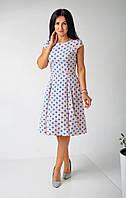 Летнее платье в горошек, фото 1