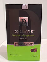 Кофе молотый без кофеина Dellavie Decafeine 250г в вакуумной упаковке