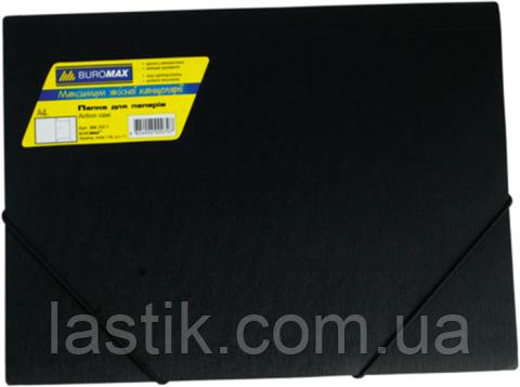 Папка на резинках, JOBMAX, А4, матовый непрозр. пластик