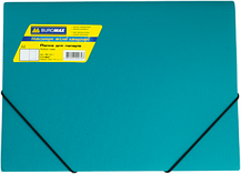 Папка на резинках, JOBMAX, А4, матовый непрозр. пластик, фото 2