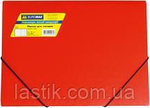 Папка на резинках, JOBMAX, А4, матовый непрозр. пластик, фото 3