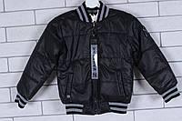 Демисезонная детская куртка для мальчика двухсторонняя 3-8 лет, чёрного цвета, фото 1