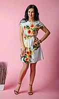 Летнее платье платье из штапеля белое, фото 1