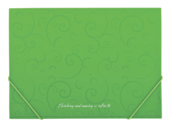 Папка на резинках, BAROCCO, А4, матовый непрозр.пластик, фото 2