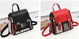 Рюкзак-сумка жіночий на застібках, фото 3