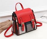 Рюкзак-сумка жіночий на застібках, фото 4