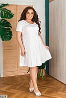 Коттоновый летний женский свободный сарафан больших размеров и для беременных