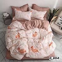 Двоспальне постільна білизна Barbara фламінго
