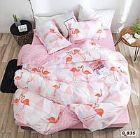 Двоспальне постільна білизна Barbara рожеві фламінго