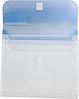 Папка-конверт TRAVEL, на липучке, А4, 4 отделения, матовый полупроз.пластик, асорти, фото 4