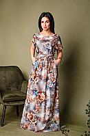 Длинное женское платье в пол большого размера