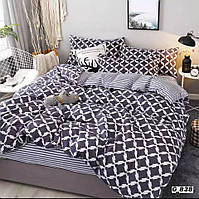 Семейное постельное белье Barbara серые ромбы