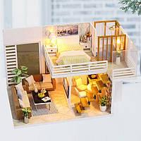 Румбокс DIY House сборный маленький дом с мебелью Simple and Elegant