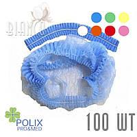 Шапочка-гармошка на 1-ой резинке (100 шт) из нетканого материала.Polix. Цвета