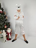 Новогодний маскарадный костюм Мишка белый, фото 1