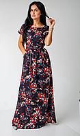 Легкое летнее платье в пол из турецкого софта