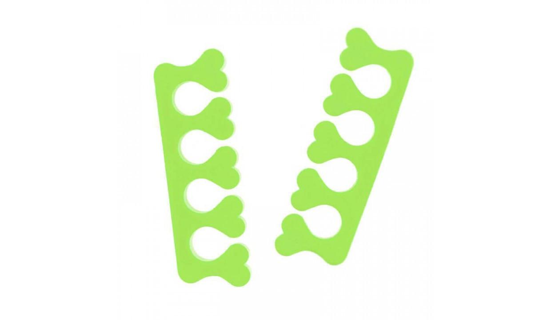 Разделители педикюрные деликатные Doily (5пар / пач) пенополиэтилен, цвет  лайм