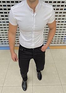 Новинка! Мужская брендовая рубашка  с коротким рукавом. Приятный к телу материал. Смотрится очень дорого.