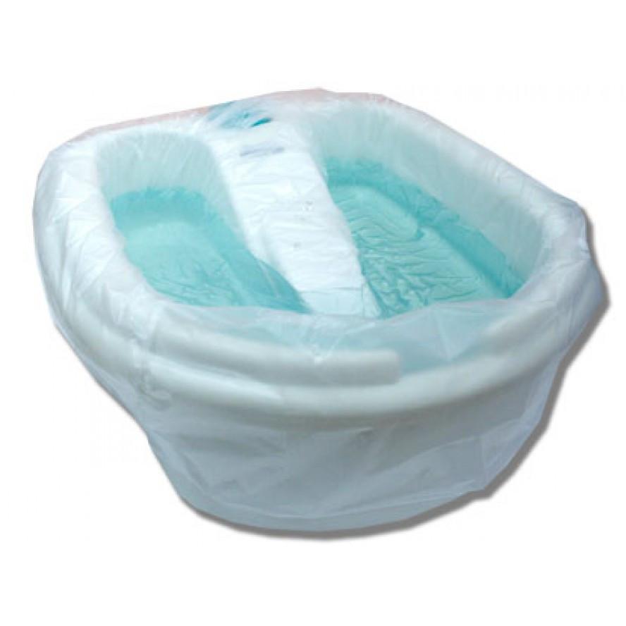 Чехол на ванночку для педикюра 80*80 см(50шт/пач) из полиэтилена, цвет прозрачный