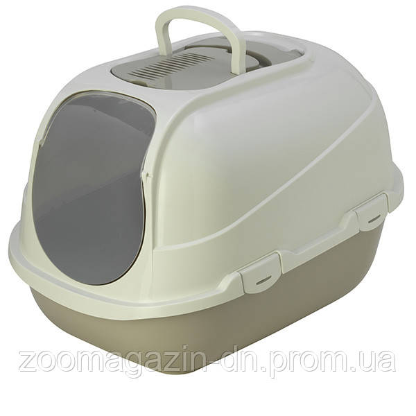 Moderna МОДЕРНА МЕГАКОМФИ КЭТ туалет для кошек, закрытый 66х46х50 см , теплый серый.