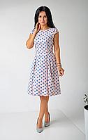 Розовое женское платье в горошек, фото 1