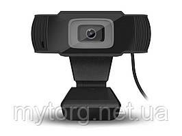 Веб камера прищепка для ПК 1080P HD 5MP USB и микрофоном L485A2 S70 1080P 500 Черный
