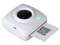 Портативный Bluetooth фото принтер Pomiacam для смартфонов  Белый