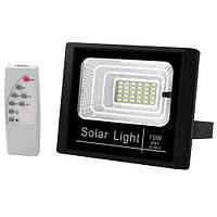 Прожектор светодиодный LAMP JD-8810 LED 10W SMD с солнечной панелью и пультом Черный (007452)
