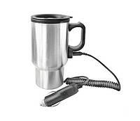 Автомобильная термокружка Electric Mug 450 мл Серебристая (pr000167)