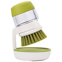 Щетка для мытья посуды JESOPB с дозатором для моющего средства Зеленый (pr000192)