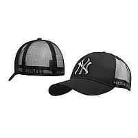 Бейсболка Трекерка  Мужская white белая с логотипом надпись Бейсболки New York Yankees, фото 3